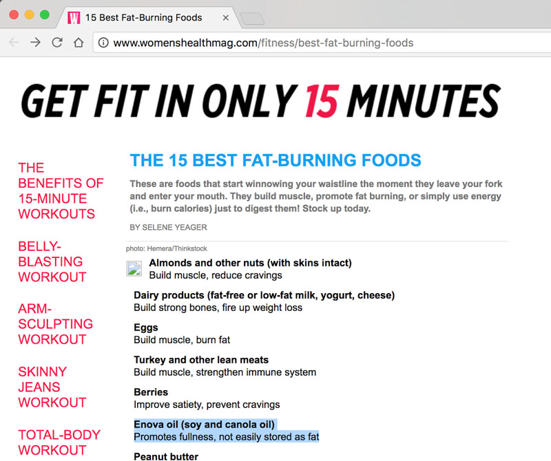 Fat burning foods and workouts