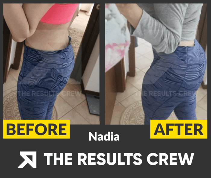 Nadia's Before and After Glute Growth Results